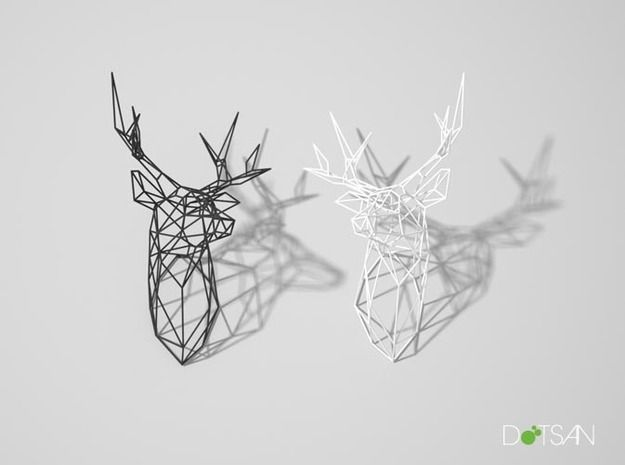 Stag Deer Trophy Head Large Facing Right | 3d and Walls