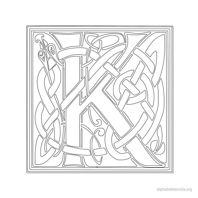 Print Free Alphabet Stencils Celtic K K s