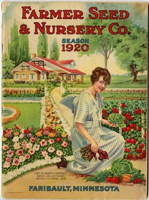 The Message Of This 1920 Farmer Seed And Nursery Catalog Cover Is That If You Too Can Have A Beautiful Home Complete With Fountain