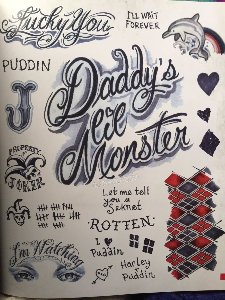 All of Harley Quinn\'s tattoos in Suicide Squad … | Pinteres…