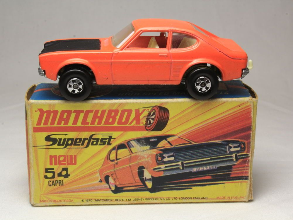 matchbox superfast 54 ford capri lesney orange black hood matchbox ford diecast model cars. Black Bedroom Furniture Sets. Home Design Ideas