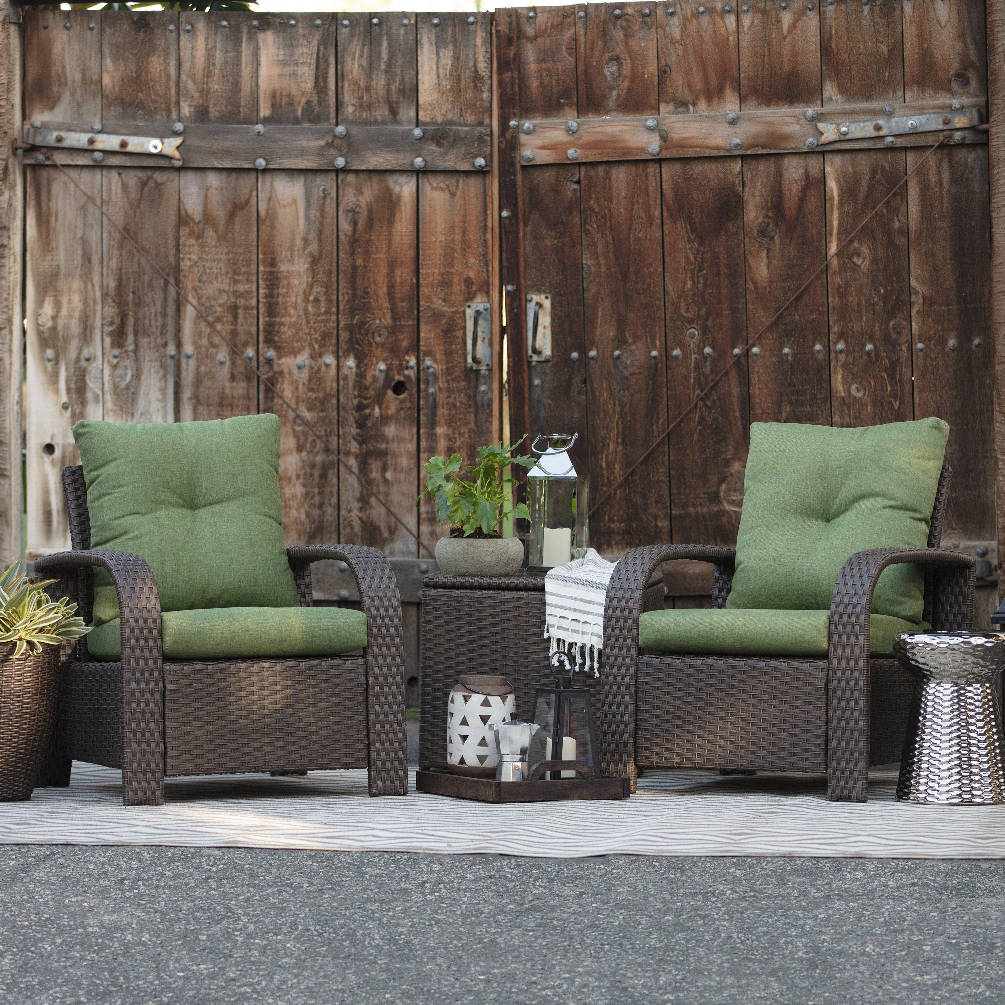 Belham Living Asheville 3 Piece Patio Storage Chat Set ... on Living Spaces Patio Set id=94088