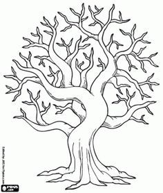 bodhi tree coloring page google search - Bare Tree Coloring Pages Printable