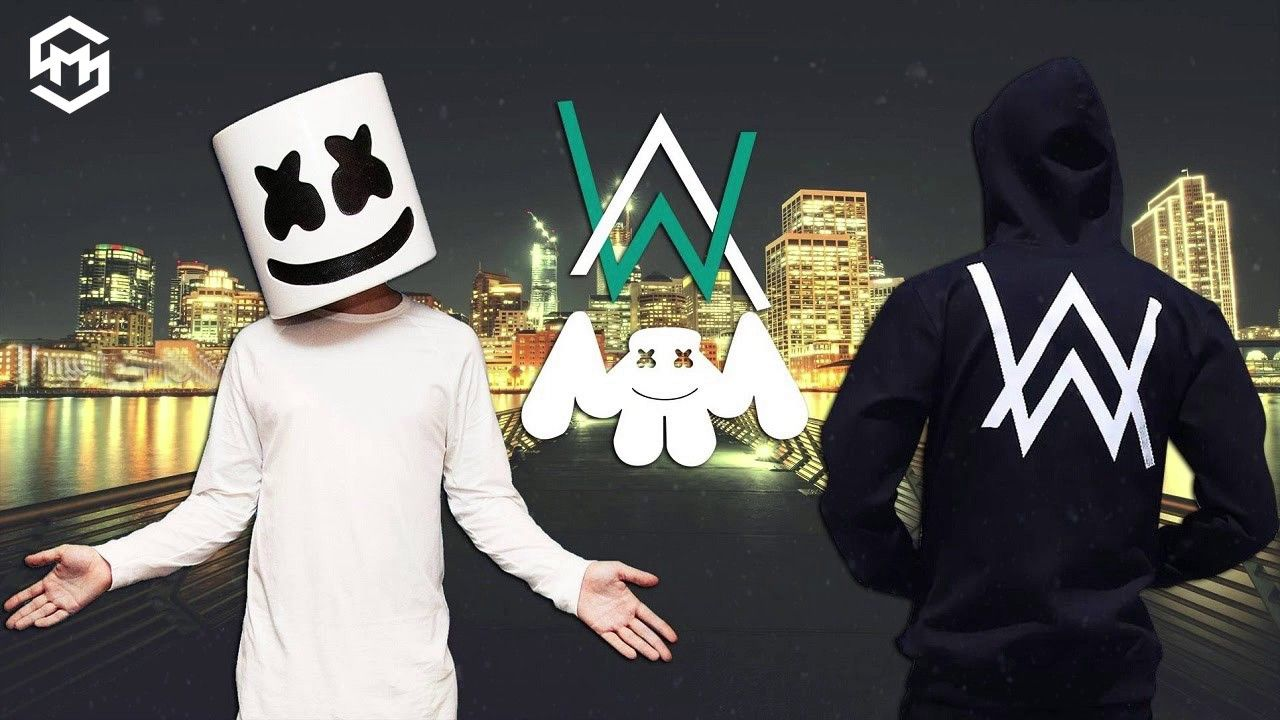 download alan walker y marshmello wallpaper wallpaper kaca