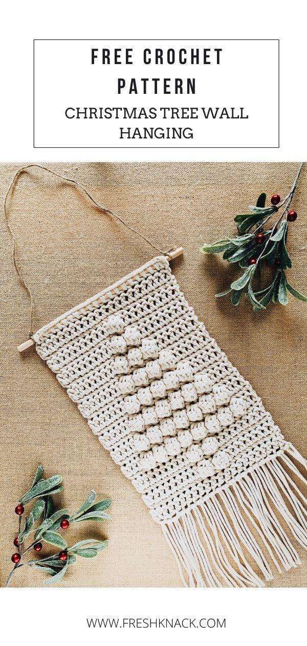 Free Crochet Pattern // Christmas Tree Wall Hanging – Deck the halls