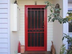 Red Security Door   Dark Door