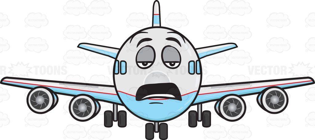 Tired Looking Jumbo Jet Plane Emoji Jumbo Jet Jet Plane Plane Emoji