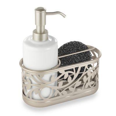 Interdesign Vine Kitchen Sink Soap Dispenser Pump And Sponge Caddy In Satin Sink Soap Dispenser Bathroom Soap Dispenser Soap Pump Dispenser
