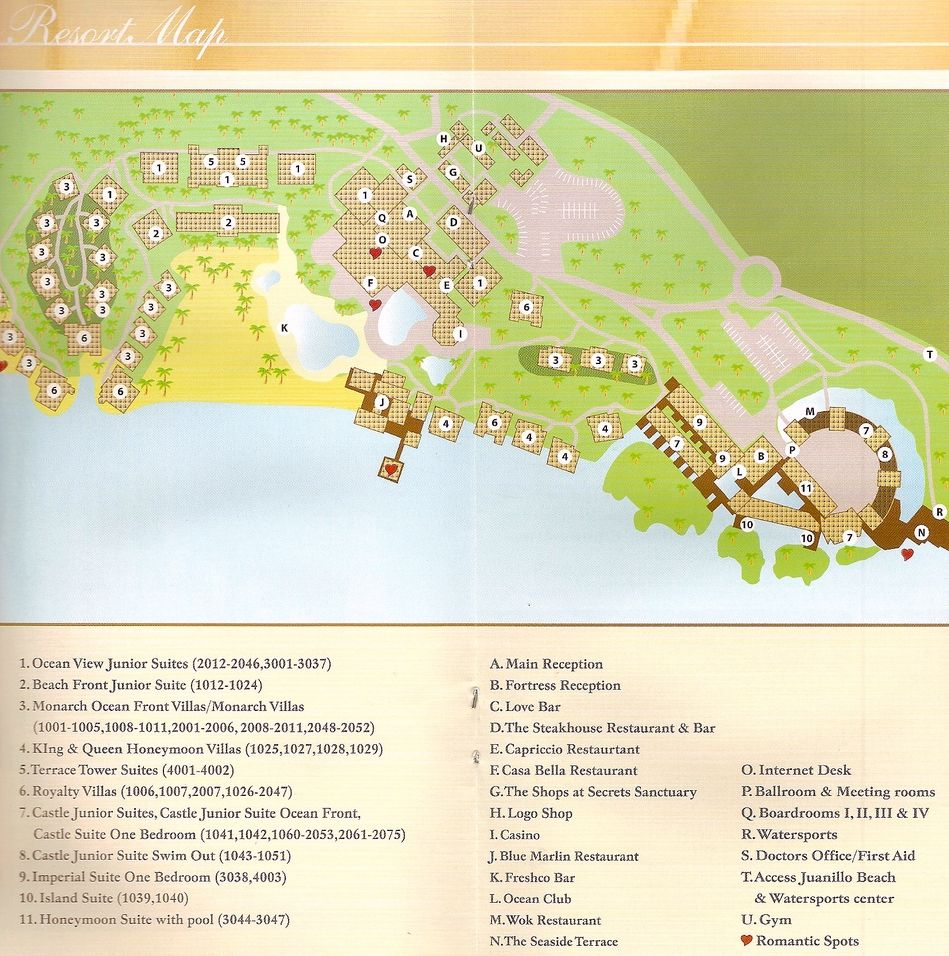 Www Resortsmaps Com Sanctuary Cap Cana Secrets Cap Cana Map Layout