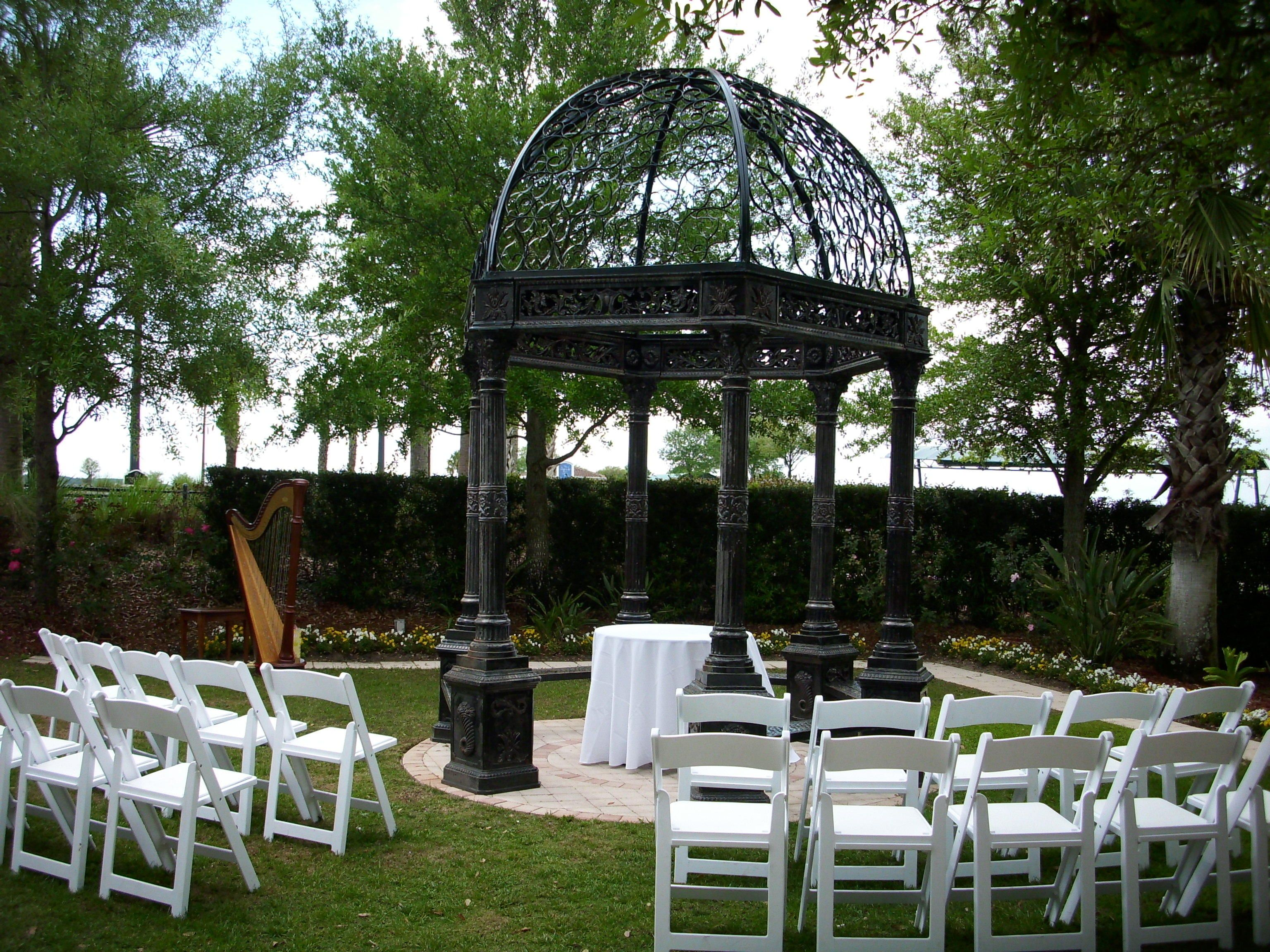 Wedding Ceremony Garden Gazebo At The Omni Orlando Resort ChampionsGate This Is A Beautiful Location For Intimate Or Destination Weddings