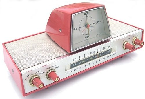 modrules:  1960's Pink Transistor Radio with Clock by SanyoWant!  Hold on, let me wipe the drool off my keyboard.