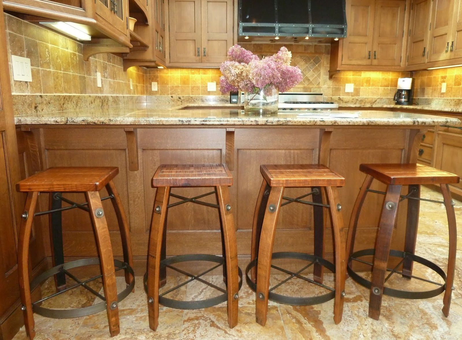 16 Spectacular Brown Granite Counter Top Ideas Rustic Bar Stools Wood Kitchen Counters Stools For Kitchen Island