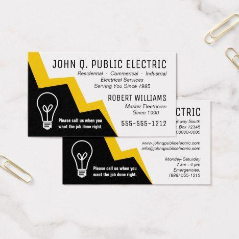 Light bulb lightning bolt electrician electrical business card light bulb lightning bolt electrician electrical business card colourmoves
