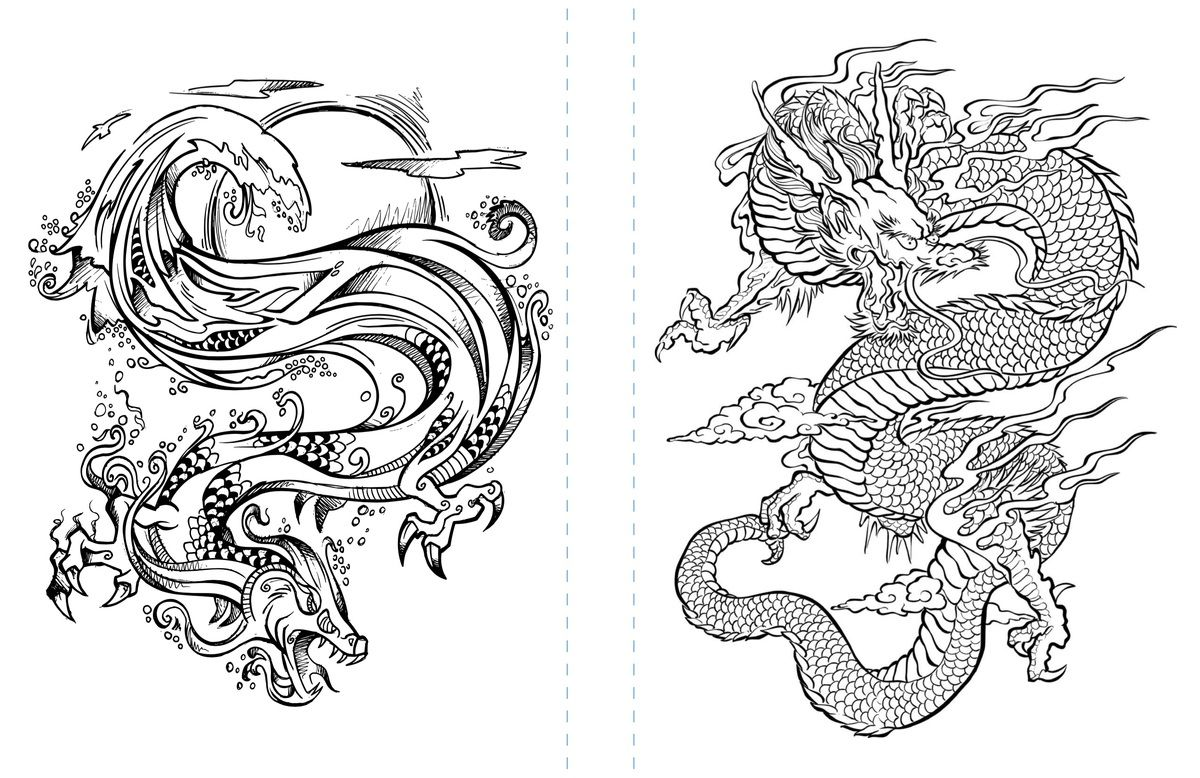 Free Dragon Coloring Page To Print Adult Coloring Dragon Coloring Page Tattoo Coloring Book Witch Coloring Pages