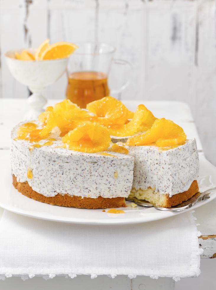 Sahnige Orangen-Mohn-Torte (Heft: Februar 2009) Foto © Maike Jessen für Mein Buffet