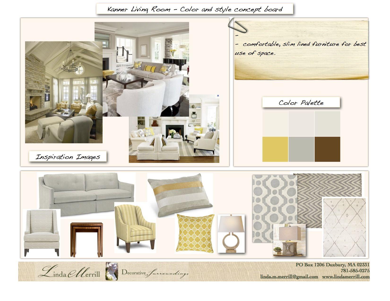 Yellow Gray Concept Board Interior Design Boards Interior Design Interior Concept