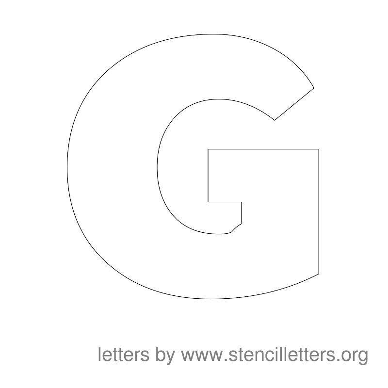 Large Stencil Letters A Z Printables Letter Stencils To