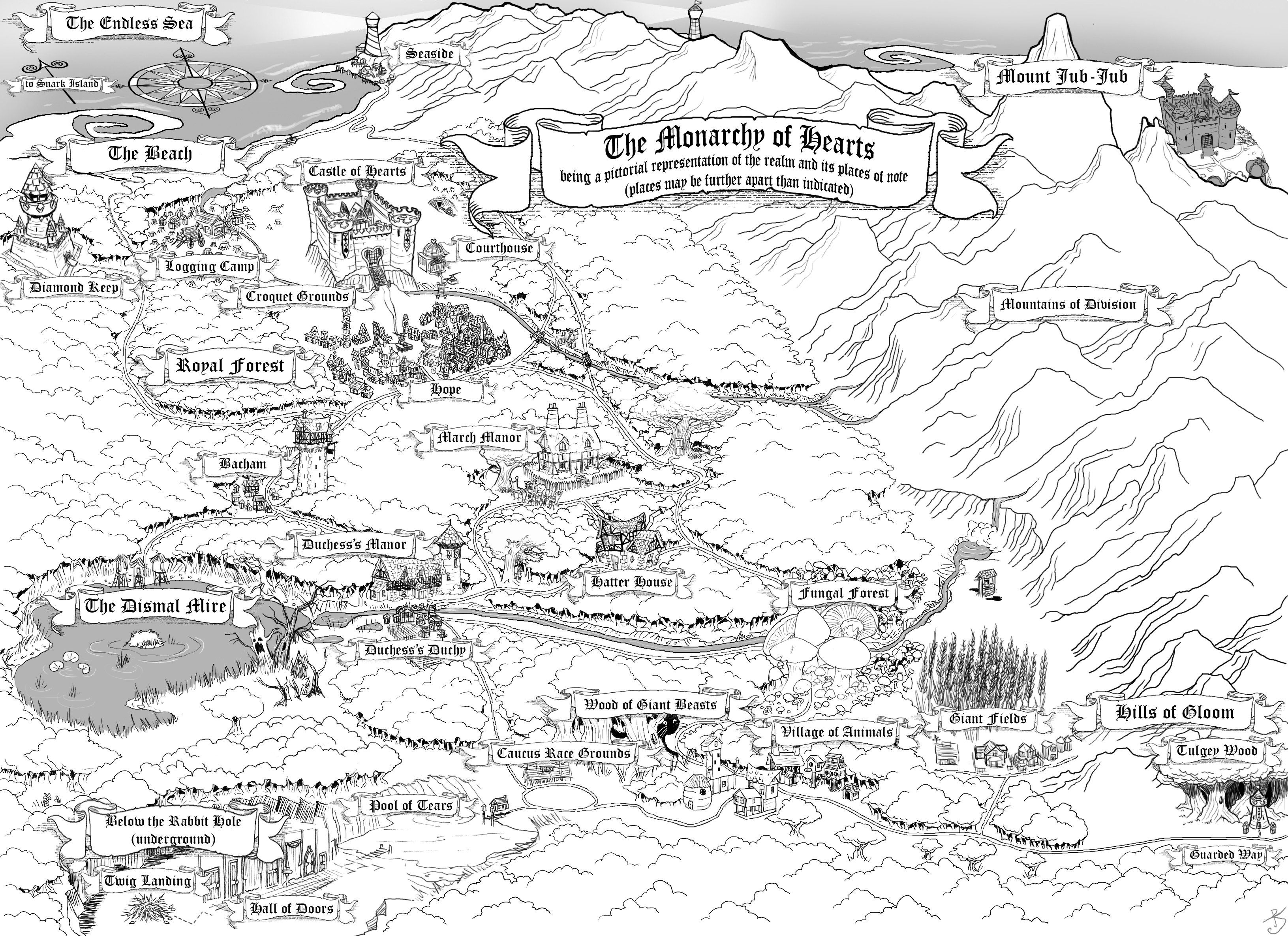 Alice In Wonderland Map Fantasy Maps | Light house | Wonderland, Fantasy map, Alice in  Alice In Wonderland Map