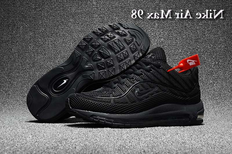 c9810d9785d76c Men s Supreme x Nike Air Max 98 KPU TPU Running Shoes All Black UK Trainers  Sale