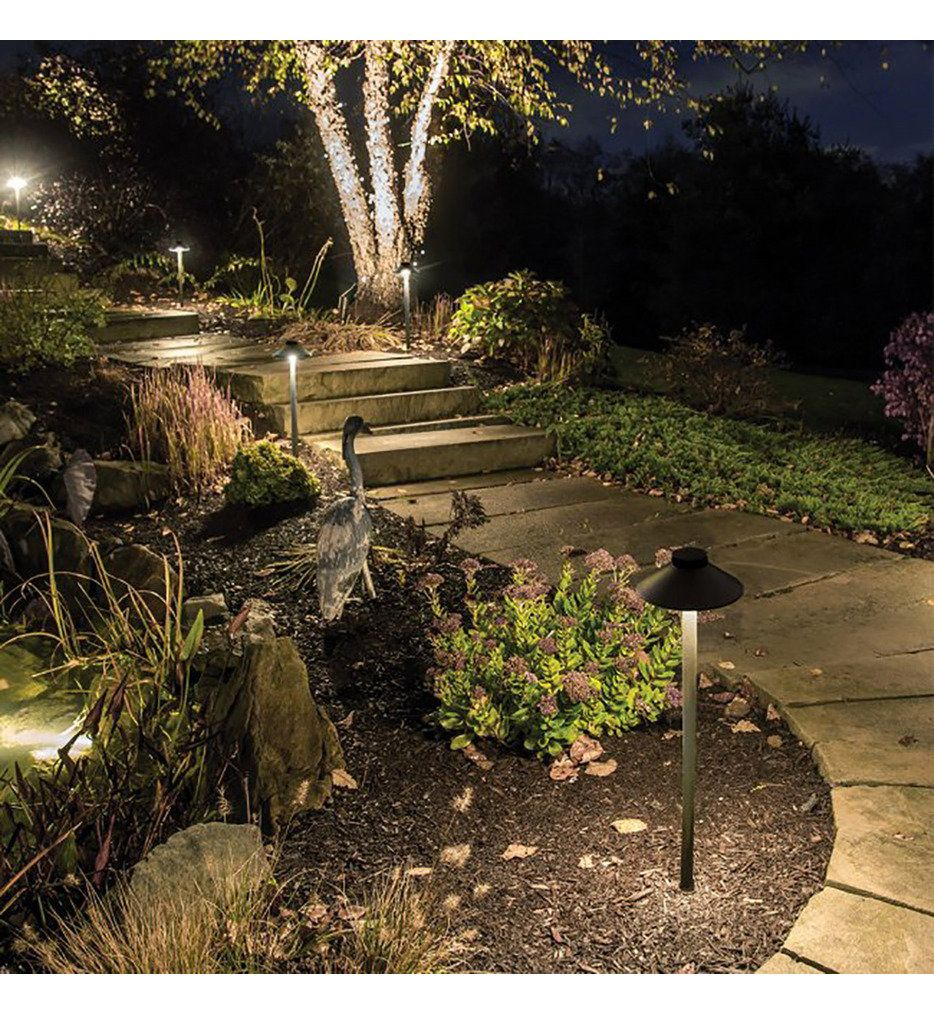 Wac Lighting 6041 27bz Tiki Bronze 2700k 90cri Led Outdoor Path Light In 2020 Outdoor Path Lighting Path Lights Landscape Lighting