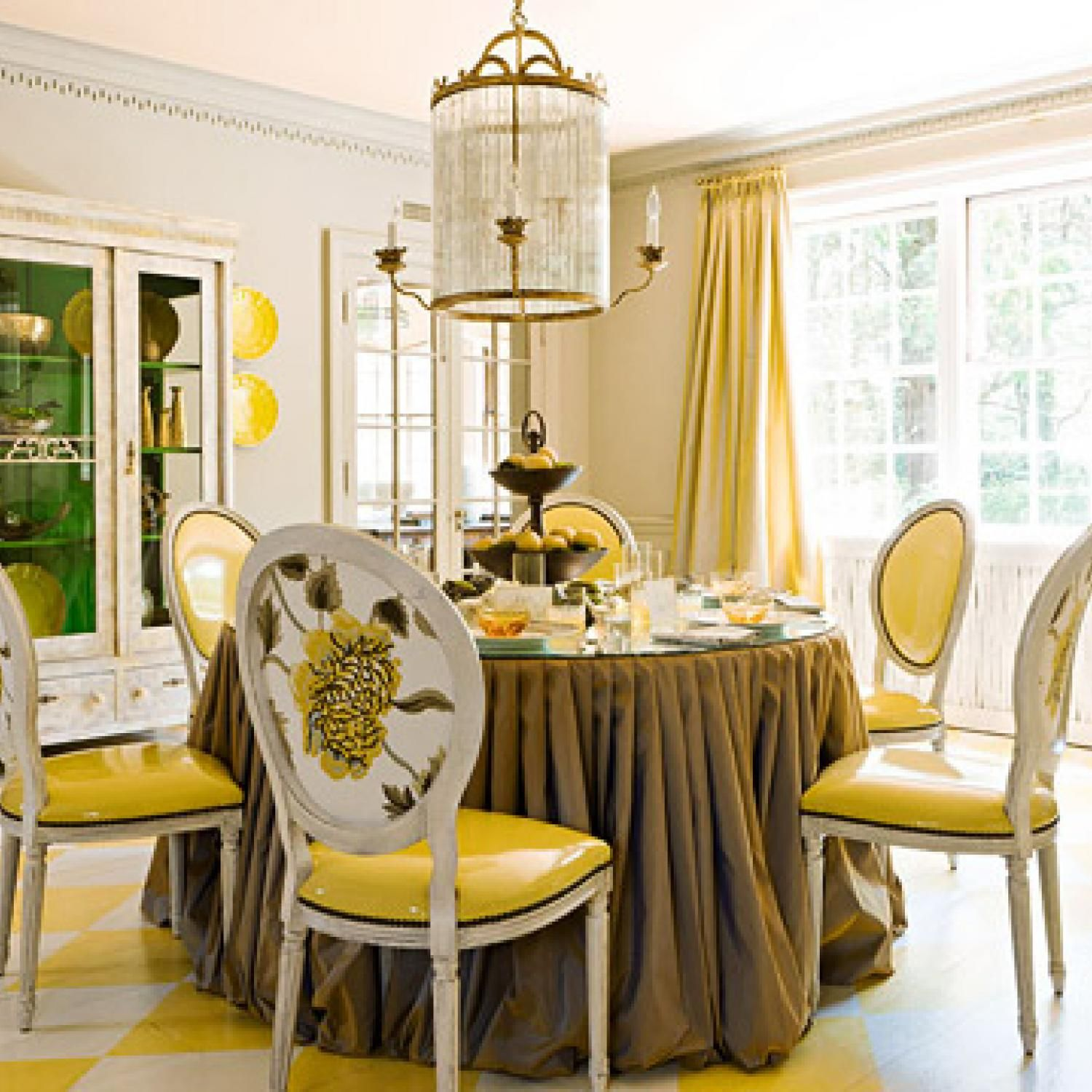 traditional decorating in sunny yellow dining rooms decor rh pinterest com