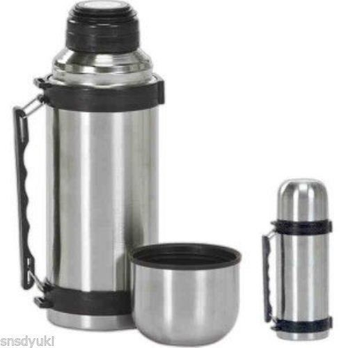 Sale Vacuum Stainless Steel Insulated Coffee Soup Bottle Thermos 1 Liter Large Thermos Bottle Flask Stainless Steel Coffee Thermos