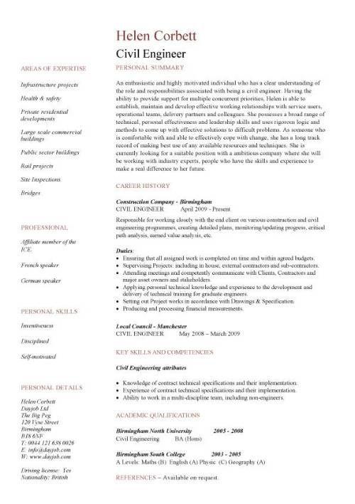 Civil Engineering Cv Resume Free Resume Templates Engineering Resume Civil Engineer Resume Engineering Resume Templates