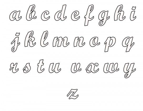 Abecedario Jpg9 Moldes De Letras Cursiva Moldes De Letras Letras Cursivas