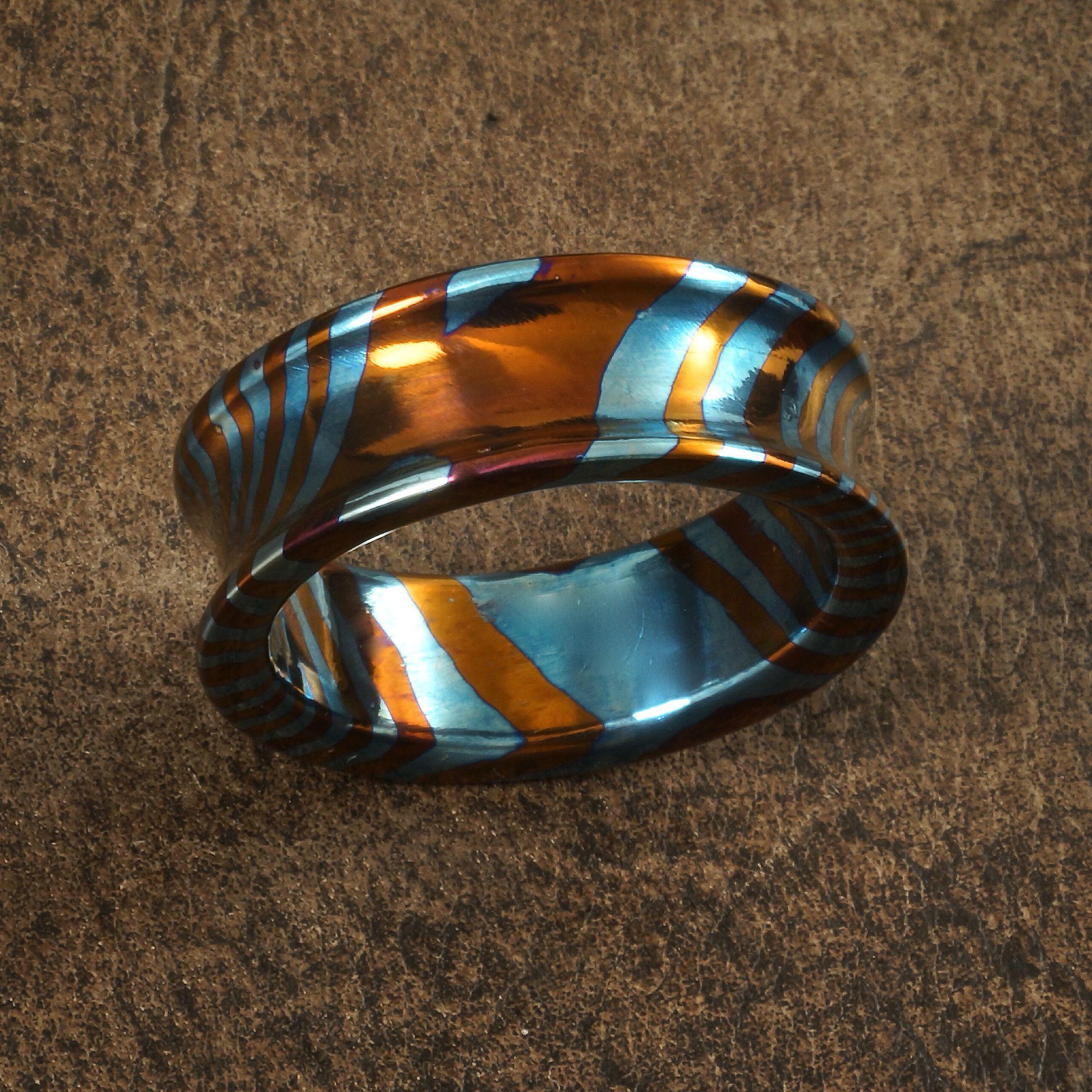 Bellied Timascus Wedding Ring Wedding Rings Pinterest Ring