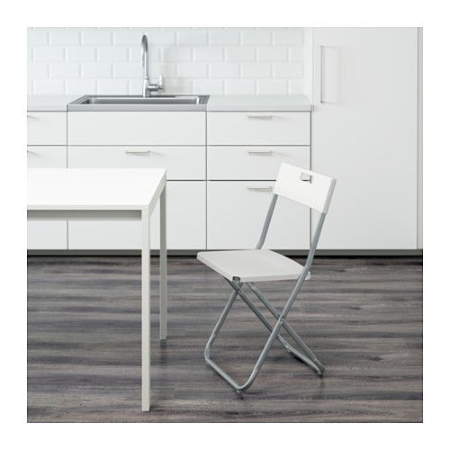 Gunde Folding Chair White With Images Ikea Chair Folding