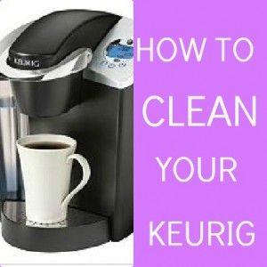 how to clean keurig pin