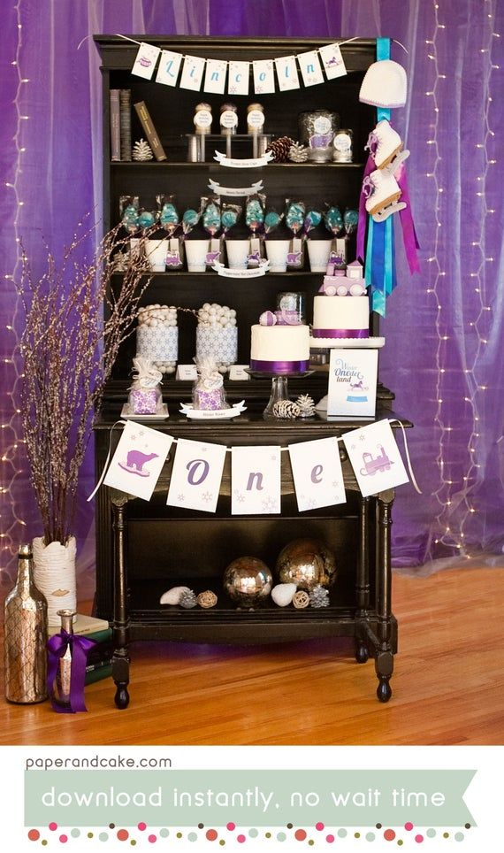 Winter ONEderland Party Decor | Baby's 1st Birthday PRINTABLE Party Decorations | EDITABLE TEXT ><div class='code-block code-block-2' style='margin: 27px auto; text-align: center; display: block; clear: both;'> <!-- rt --> <ins class=