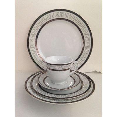 Greek Key 48 Piece Dinnerware Set  sc 1 st  Pinterest & Imperial Gift Co. Greek Key 48 Piece Dinnerware Set | Products ...