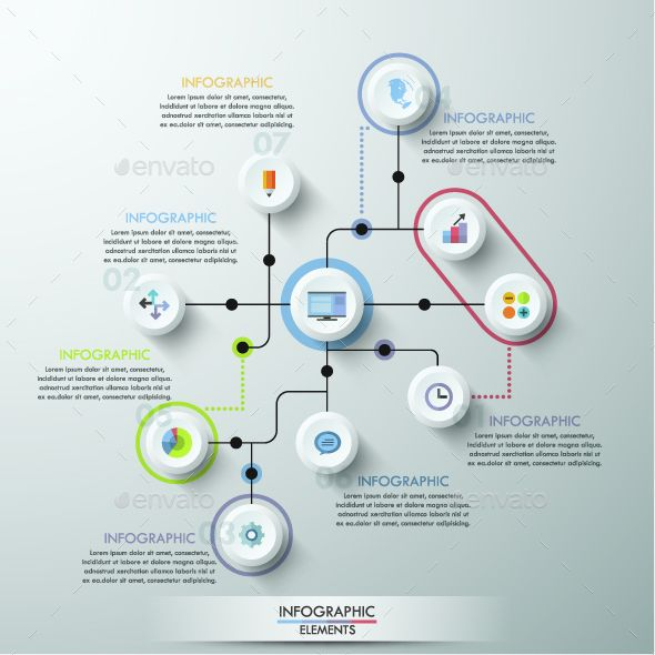 Modern Infographics Circle Template Infographics, Template and - circle template