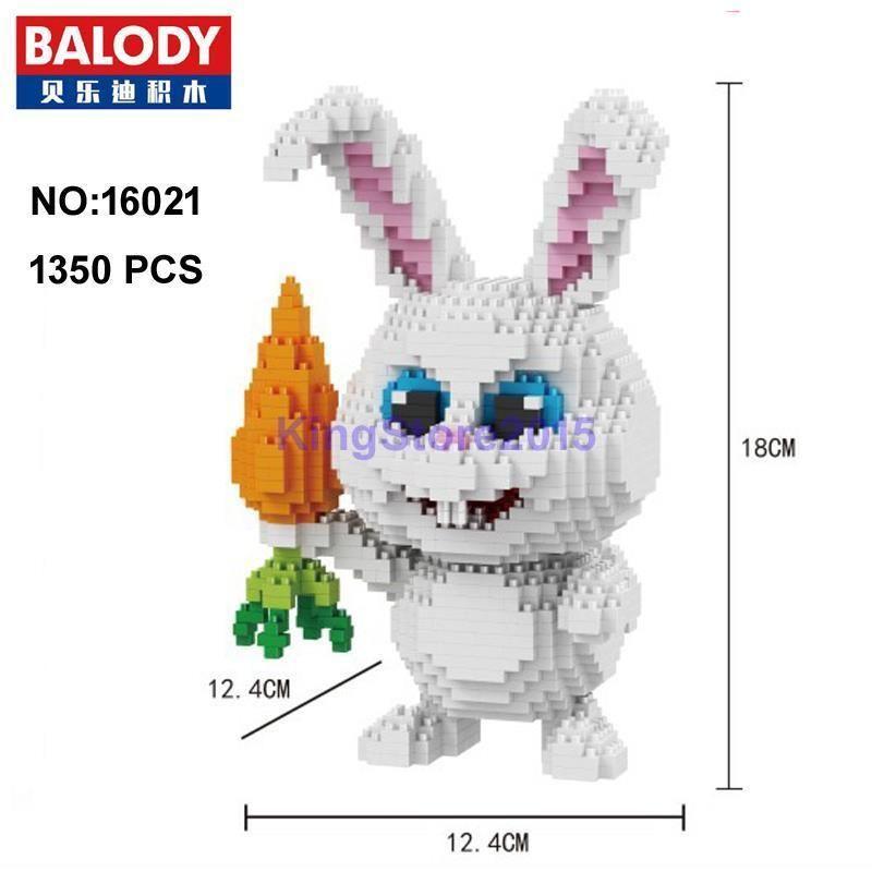 Balody Secret Life Of Pets Snowball Rabbit Diamond Mini Building