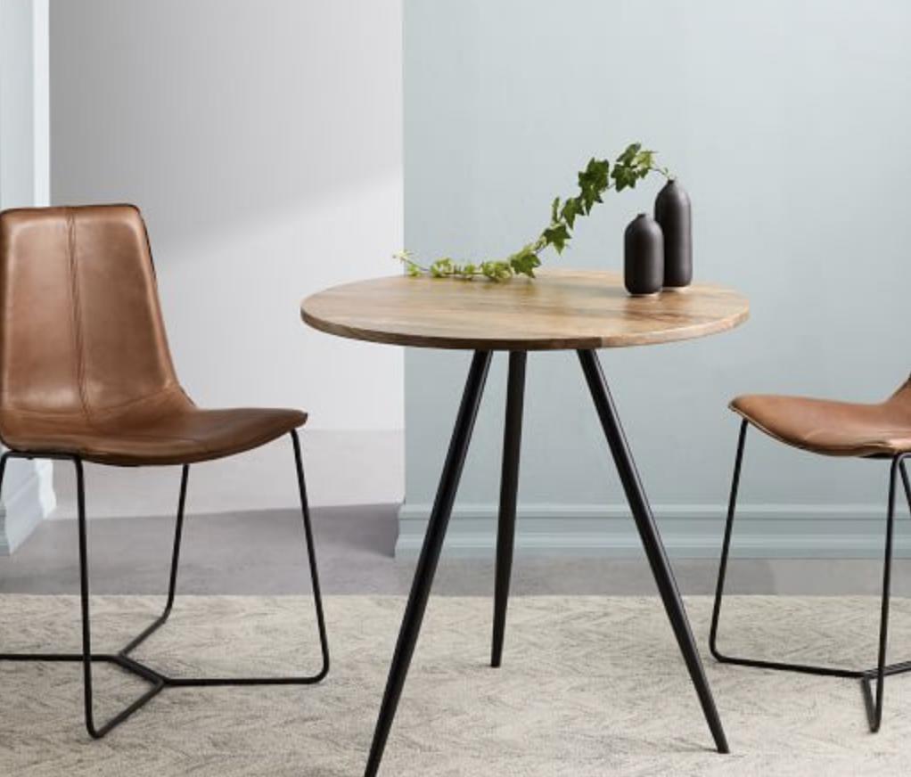 Wren Bistro Table Raw Mango Bistro table, Contemporary
