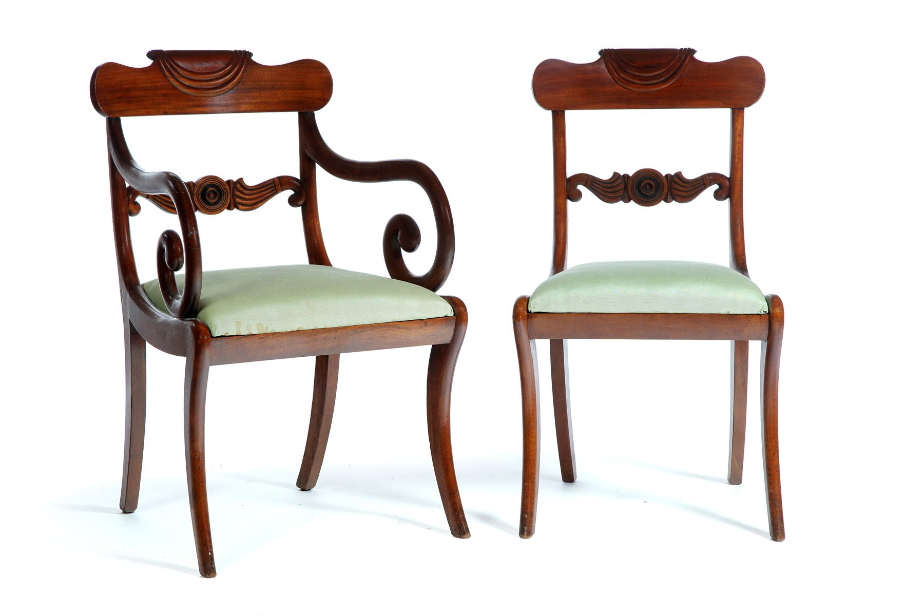 Classical Mahogany Chairs C 1820 1840 Coveted Antiques