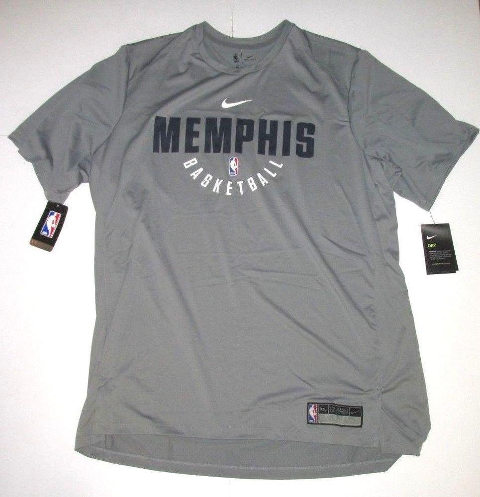 f293e99c5 Nike NBA Memphis Grizzlies Dri-FIT Practice Shirt Mens 2XL Grey 877537 039 # Nike