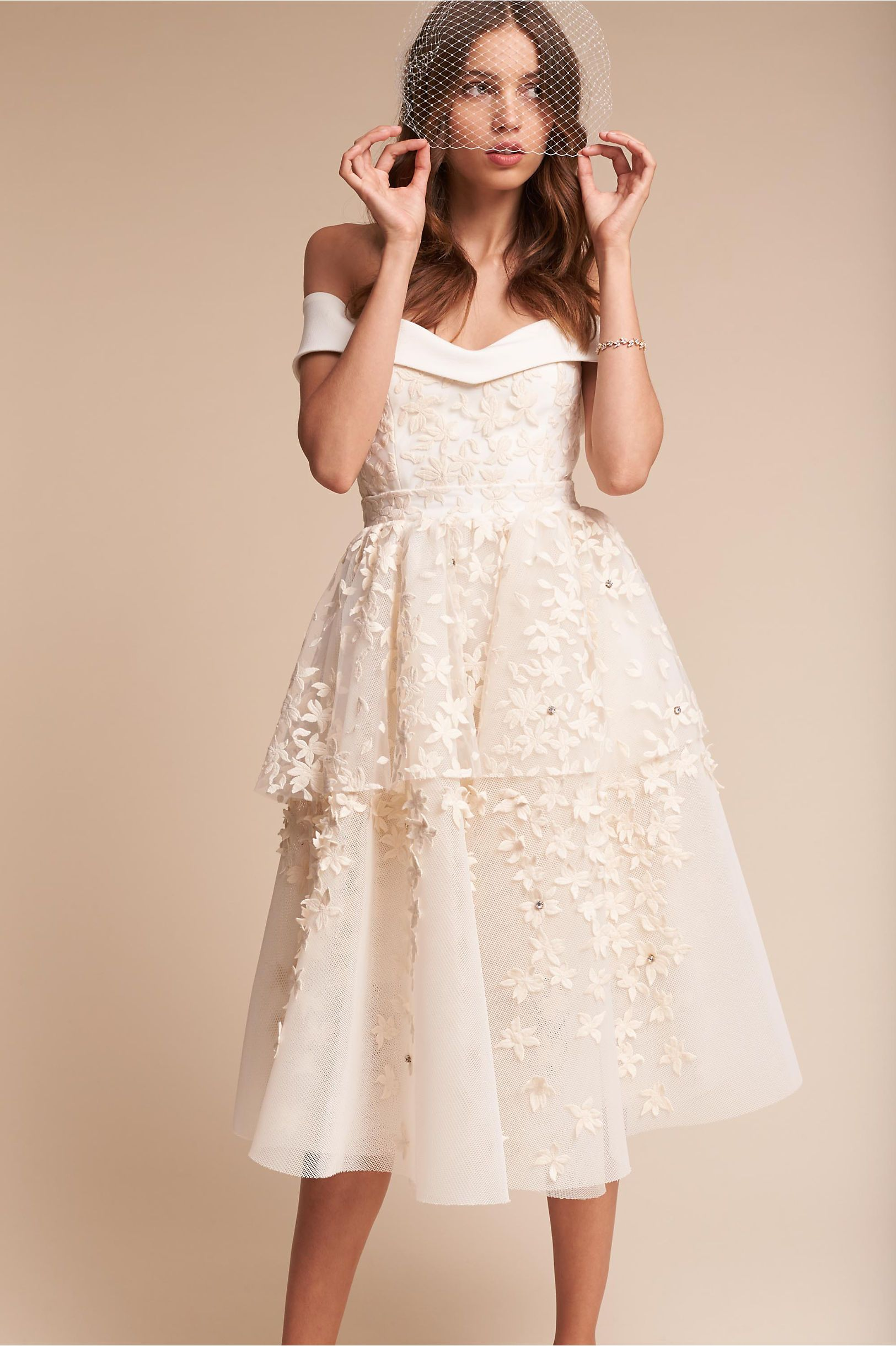 White short wedding dresses  BHLDNus Emerson Gown in Champagne  Emerson Bhldn and Gowns