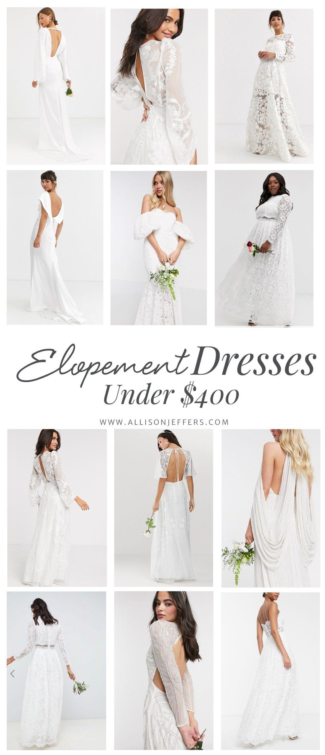 Elopement Dresses Under 400 From Asos Lulu In 2020 Elopement Dress Knee Length Wedding Dress Casual Wedding Dress