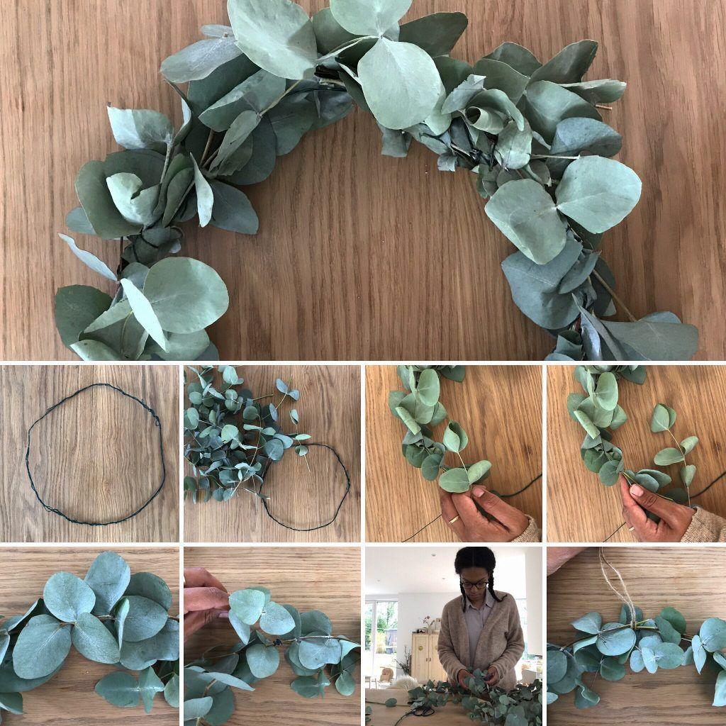 Eukalyptus Kranz selbermachen , Anleitung zum selber machen