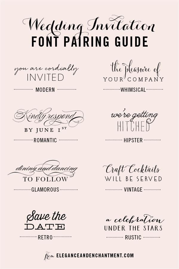 Casual Wedding Invitation Font Pairing Guide Good Wedding Invitation Fonts Wedding Invitation Fonts Invitation Fonts Wedding Fonts