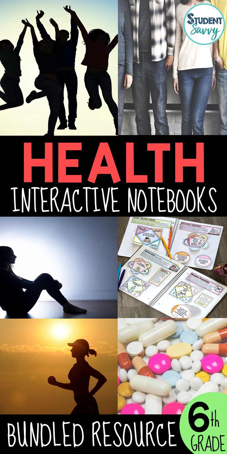 Health Interactive Notebook Bundle Middle School Health