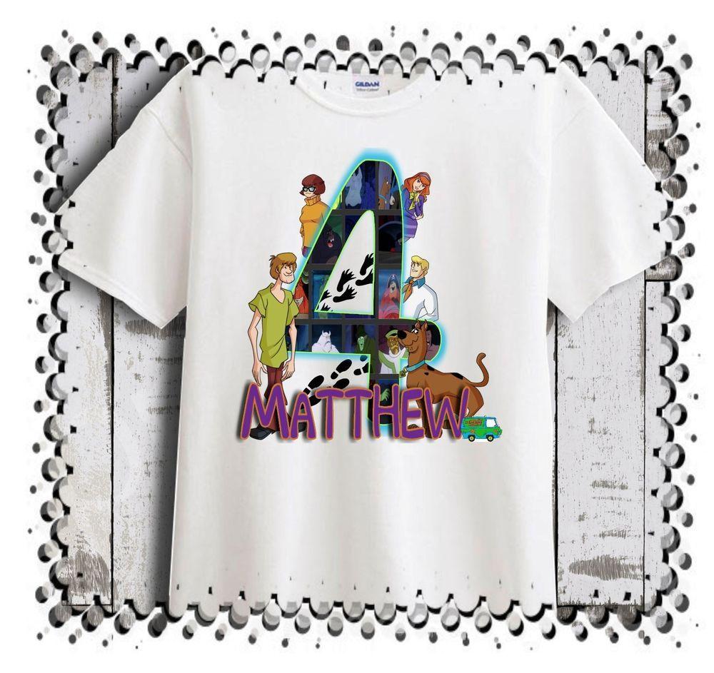 Scooby Doo Personalized - Birthday T-Shirt Party Favor  #CartersbrandbodysuitsDeltaandGlidan #Birthday