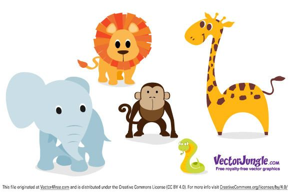 This Animal Vector Pack Is Perfect For Baby Announcements Birthday Parties Or Whatever You Want Download T Animal Clipart Free Vector Free Free Vector Art