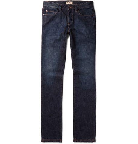 Tasche Slim-fit Stretch-denim Jeans Loro Piana htomx