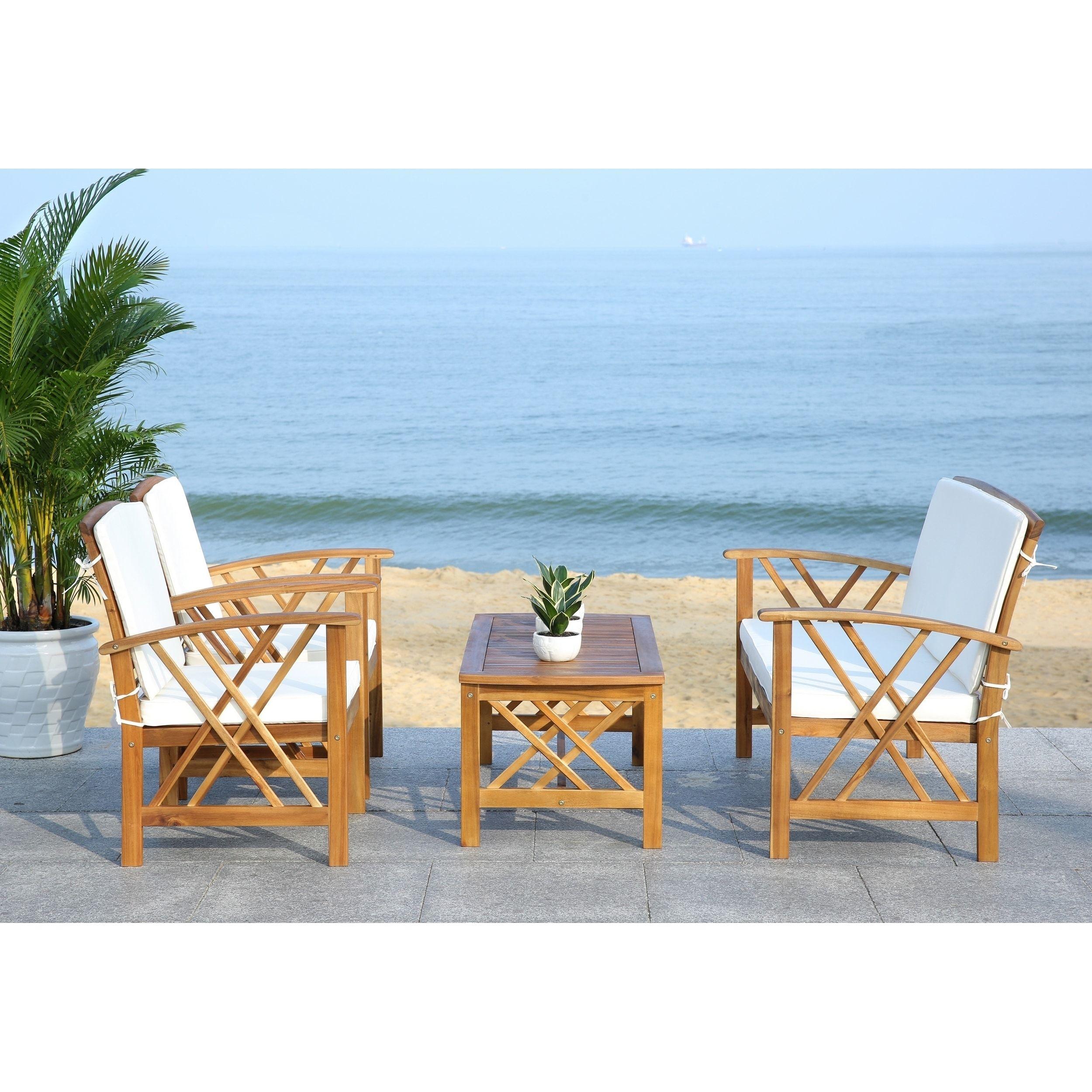 Safavieh Outdoor Living Fontana 4 Pc Outdoor Set | Outdoor ... on Safavieh Fontana 4 Pc Outdoor Set id=16686