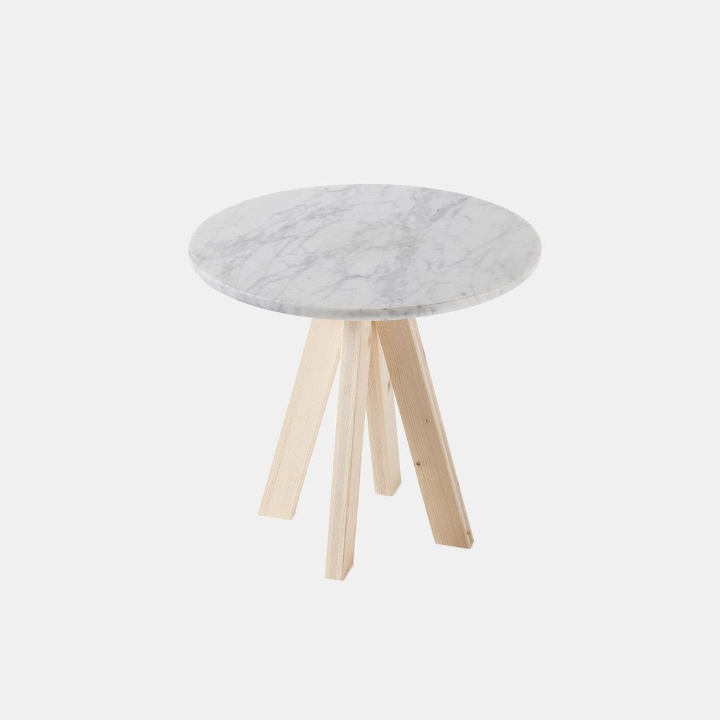A.ngelo Side Table - Carrara Top | by Atipico | Monologuelondon.com | Monologue London