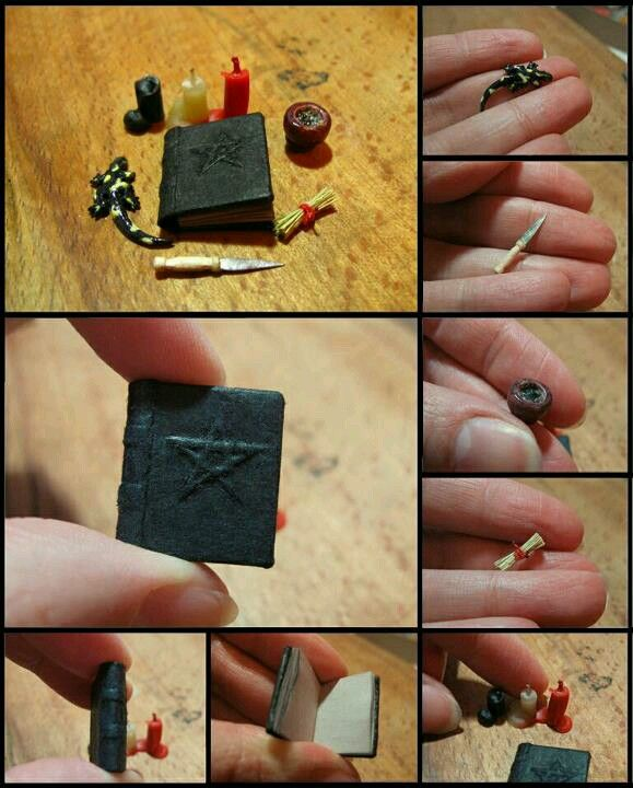 What every good Haunted Doll House needs. A miniature altar. LOL!