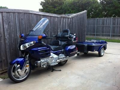 2003 Honda Goldwing Gl1800 And Custom Motorcycle Trailer Illusion Blue
